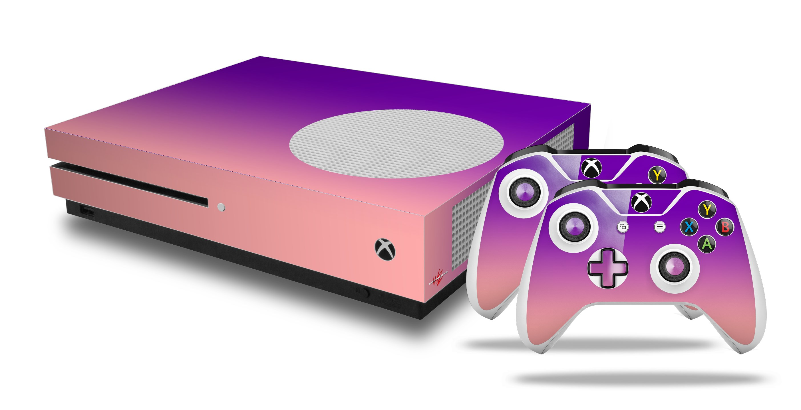Smooth Fades Pink Purple Skin Set Fits Xbox One Console Controllers Faceplates, Decals & Stickers Video Game Accessories