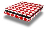 Vinyl Decal Skin Wrap compatible with Sony PlayStation 4 Slim Console Houndstooth Red (PS4 NOT INCLUDED)