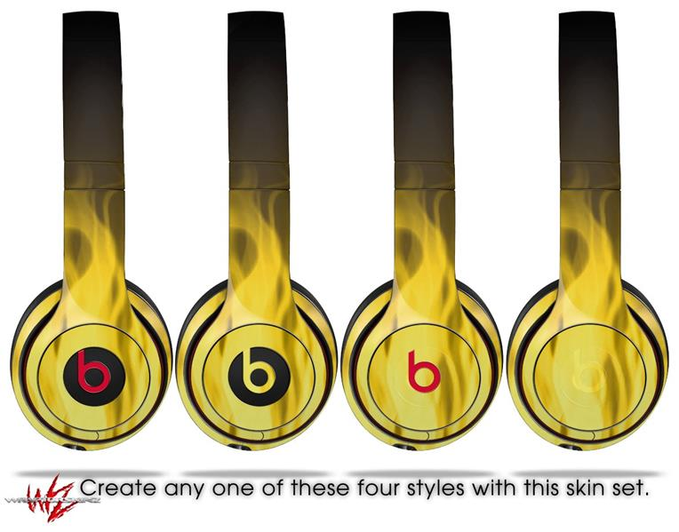 Beats Solo2 - Solo3 Wireless Skins Fire Yellow | WraptorSkinz