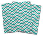 Vinyl Craft Cutter Designer 12x12 Sheets Zig Zag Teal and Gray - 2 Pack