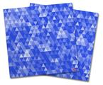 Vinyl Craft Cutter Designer 12x12 Sheets Triangle Mosaic Blue - 2 Pack
