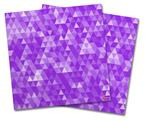 Vinyl Craft Cutter Designer 12x12 Sheets Triangle Mosaic Purple - 2 Pack