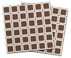 Vinyl Craft Cutter Designer 12x12 Sheets Squared Chocolate Brown - 2 Pack