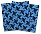 Vinyl Craft Cutter Designer 12x12 Sheets Retro Houndstooth Blue - 2 Pack