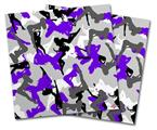 Vinyl Craft Cutter Designer 12x12 Sheets Sexy Girl Silhouette Camo Purple - 2 Pack