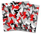 Vinyl Craft Cutter Designer 12x12 Sheets Sexy Girl Silhouette Camo Red - 2 Pack