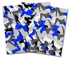 Vinyl Craft Cutter Designer 12x12 Sheets Sexy Girl Silhouette Camo Blue - 2 Pack
