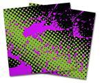 Vinyl Craft Cutter Designer 12x12 Sheets Halftone Splatter Hot Pink Green - 2 Pack
