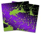 Vinyl Craft Cutter Designer 12x12 Sheets Halftone Splatter Green Purple - 2 Pack