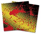 Vinyl Craft Cutter Designer 12x12 Sheets Halftone Splatter Yellow Red - 2 Pack