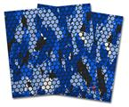Vinyl Craft Cutter Designer 12x12 Sheets HEX Mesh Camo 01 Blue Bright - 2 Pack