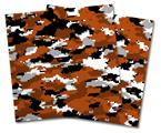 Vinyl Craft Cutter Designer 12x12 Sheets WraptorCamo Digital Camo Burnt Orange - 2 Pack
