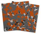 Vinyl Craft Cutter Designer 12x12 Sheets WraptorCamo Old School Camouflage Camo Orange Burnt - 2 Pack