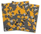 Vinyl Craft Cutter Designer 12x12 Sheets WraptorCamo Old School Camouflage Camo Orange - 2 Pack