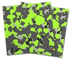 Vinyl Craft Cutter Designer 12x12 Sheets WraptorCamo Old School Camouflage Camo Lime Green - 2 Pack