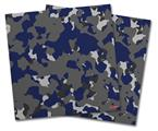 Vinyl Craft Cutter Designer 12x12 Sheets WraptorCamo Old School Camouflage Camo Blue Navy - 2 Pack