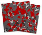Vinyl Craft Cutter Designer 12x12 Sheets WraptorCamo Old School Camouflage Camo Red - 2 Pack
