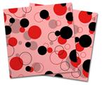 Vinyl Craft Cutter Designer 12x12 Sheets Lots of Dots Red on Pink - 2 Pack
