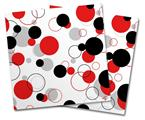 Vinyl Craft Cutter Designer 12x12 Sheets Lots of Dots Red on White - 2 Pack