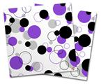Vinyl Craft Cutter Designer 12x12 Sheets Lots of Dots Purple on White - 2 Pack