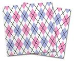 Vinyl Craft Cutter Designer 12x12 Sheets Argyle Pink and Blue - 2 Pack
