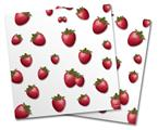 Vinyl Craft Cutter Designer 12x12 Sheets Strawberries on White - 2 Pack