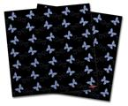 Vinyl Craft Cutter Designer 12x12 Sheets Pastel Butterflies Blue on Black - 2 Pack
