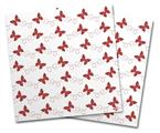 Vinyl Craft Cutter Designer 12x12 Sheets Pastel Butterflies Red on White - 2 Pack