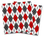 Vinyl Craft Cutter Designer 12x12 Sheets Argyle Red and Gray - 2 Pack