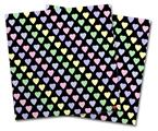Vinyl Craft Cutter Designer 12x12 Sheets Pastel Hearts on Black - 2 Pack