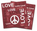 Vinyl Craft Cutter Designer 12x12 Sheets Love and Peace Pink - 2 Pack