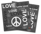 Vinyl Craft Cutter Designer 12x12 Sheets Love and Peace Gray - 2 Pack