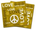 Vinyl Craft Cutter Designer 12x12 Sheets Love and Peace Yellow - 2 Pack