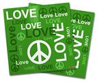 Vinyl Craft Cutter Designer 12x12 Sheets Love and Peace Green - 2 Pack