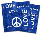 Vinyl Craft Cutter Designer 12x12 Sheets Love and Peace Blue - 2 Pack