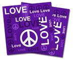 Vinyl Craft Cutter Designer 12x12 Sheets Love and Peace Purple - 2 Pack