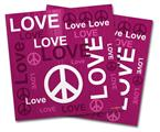 Vinyl Craft Cutter Designer 12x12 Sheets Love and Peace Hot Pink - 2 Pack