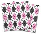 Vinyl Craft Cutter Designer 12x12 Sheets Argyle Pink and Gray - 2 Pack