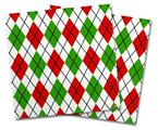 Vinyl Craft Cutter Designer 12x12 Sheets Argyle Red and Green - 2 Pack