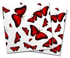 Vinyl Craft Cutter Designer 12x12 Sheets Butterflies Red - 2 Pack