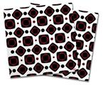 Vinyl Craft Cutter Designer 12x12 Sheets Red And Black Squared - 2 Pack