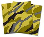 Vinyl Craft Cutter Designer 12x12 Sheets Camouflage Yellow - 2 Pack