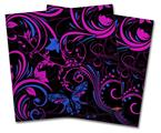 Vinyl Craft Cutter Designer 12x12 Sheets Twisted Garden Hot Pink and Blue - 2 Pack