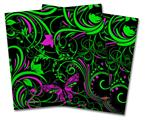 Vinyl Craft Cutter Designer 12x12 Sheets Twisted Garden Green and Hot Pink - 2 Pack