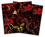 Vinyl Craft Cutter Designer 12x12 Sheets Twisted Garden Red and Yellow - 2 Pack