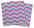 Vinyl Craft Cutter Designer 12x12 Sheets Zig Zag Teal Pink Purple - 2 Pack