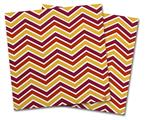 Vinyl Craft Cutter Designer 12x12 Sheets Zig Zag Yellow Burgundy Orange - 2 Pack