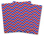 Vinyl Craft Cutter Designer 12x12 Sheets Zig Zag Red White and Blue - 2 Pack