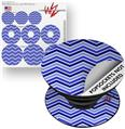 Decal Style Vinyl Skin Wrap 3 Pack for PopSockets Zig Zag Blues (POPSOCKET NOT INCLUDED)