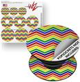 Decal Style Vinyl Skin Wrap 3 Pack for PopSockets Zig Zag Rainbow (POPSOCKET NOT INCLUDED)